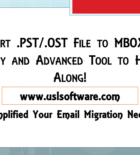 convert pst and ost to mbox